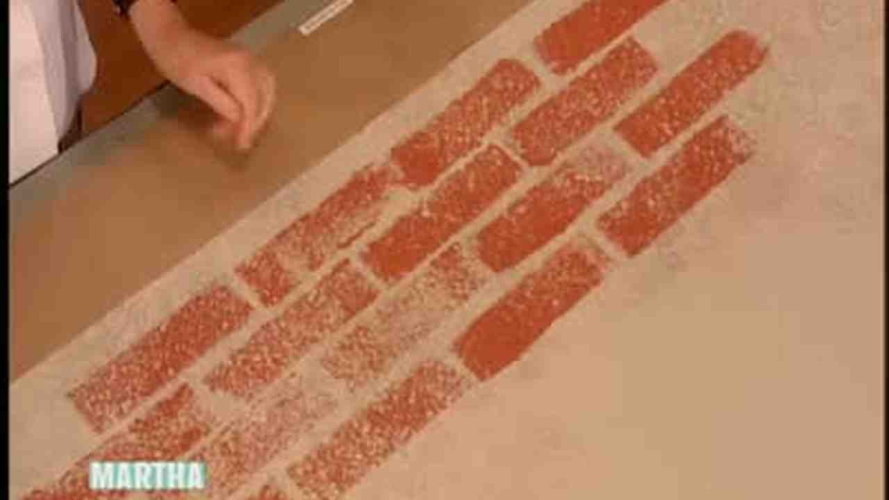 Video How To Make A Brick Stamp With Sponges Part 2