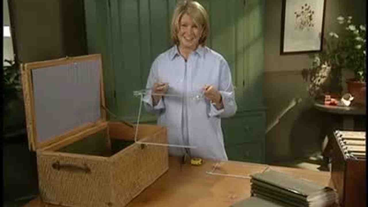 Video: How To Transform Boxes Into Decorative File Cabinets | Martha Stewart