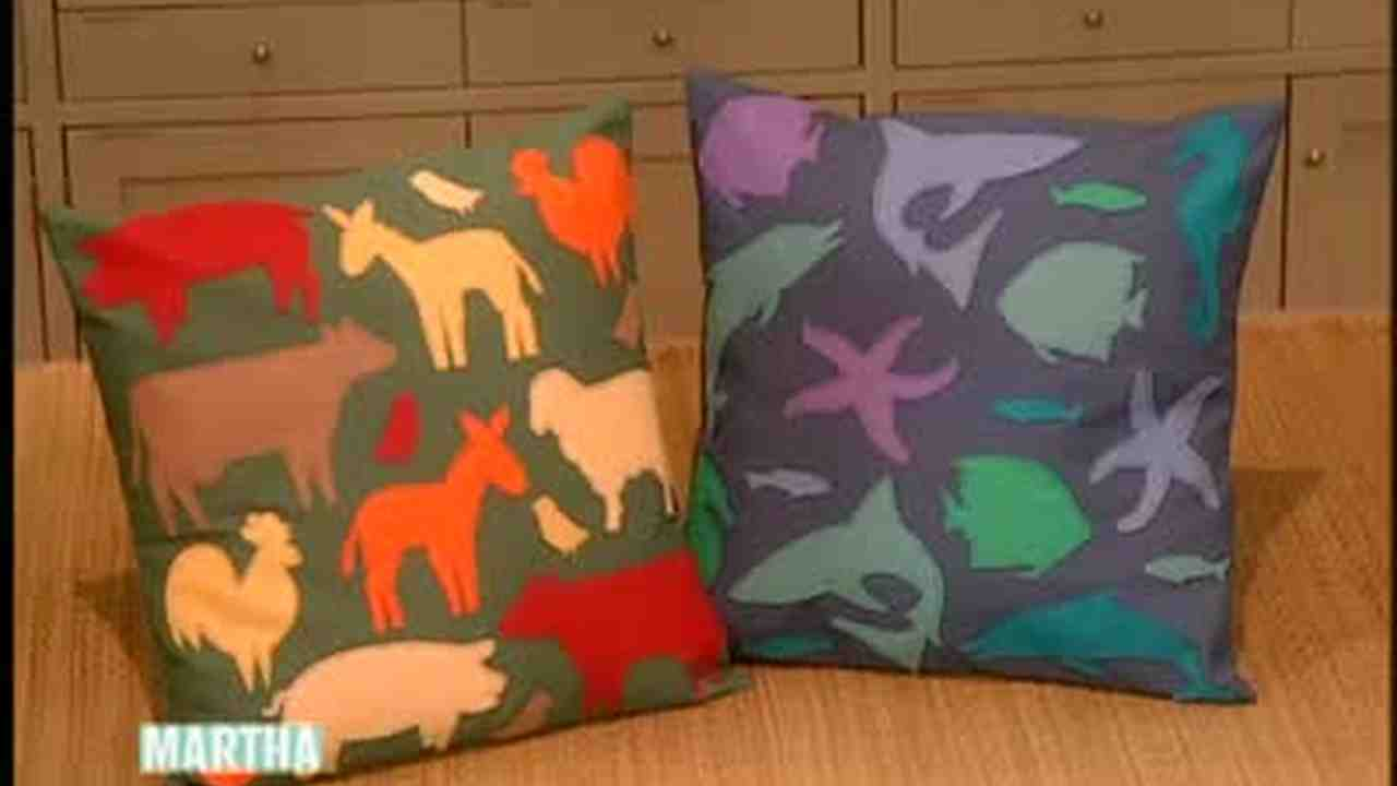 Set of hand crafted cushion covers with applique work cushions
