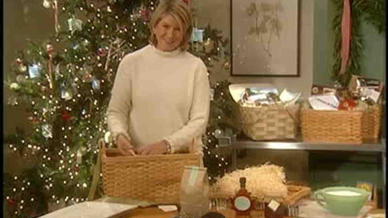 video professional gift basket ideas from martha by mail martha stewart - Christmas Basket Decoration Ideas