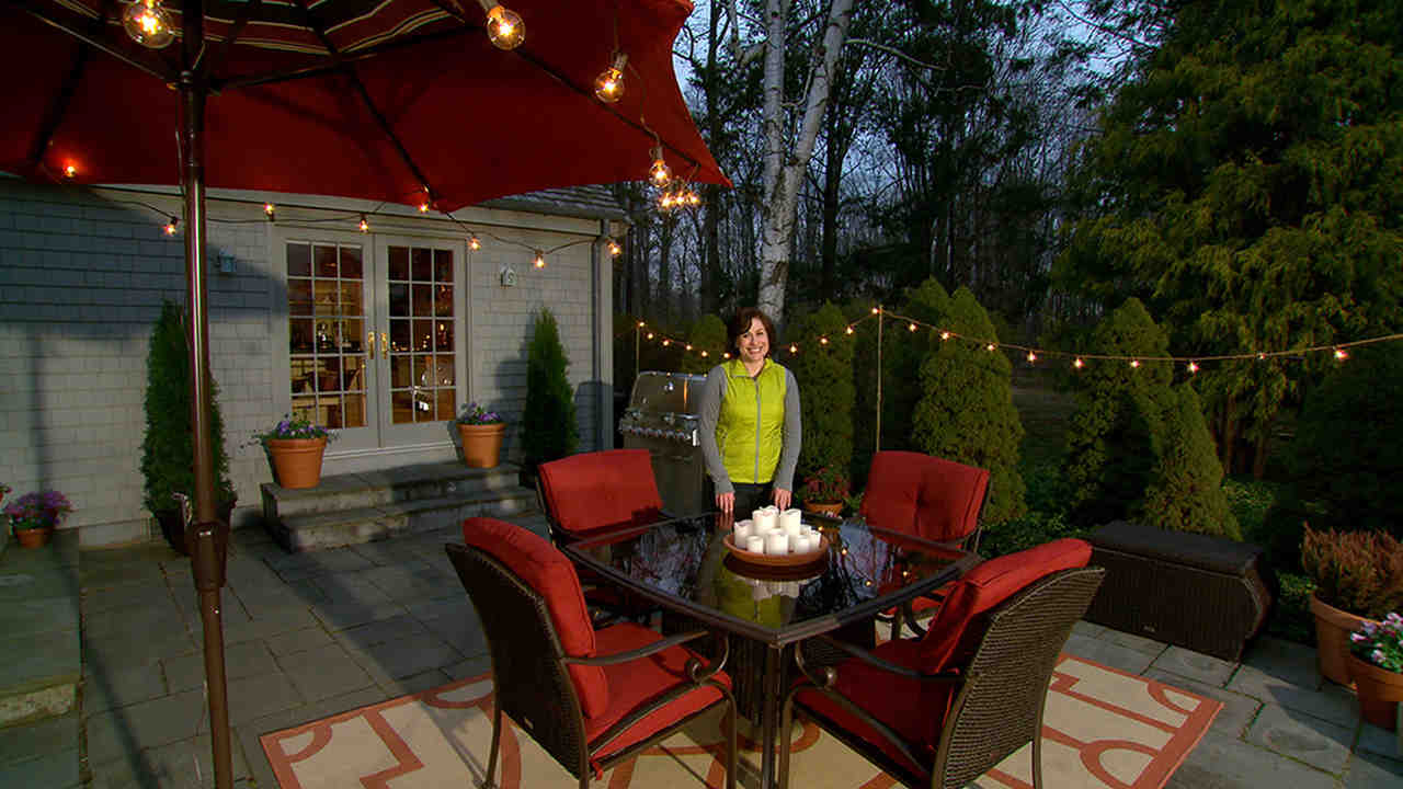 Video Learn u0026 Do Lighting Your Patio for Outdoor Entertaining | Martha Stewart & Video: Learn u0026 Do: Lighting Your Patio for Outdoor Entertaining ...