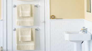 towel bar with towel mounted towel towel bar trio martha stewart