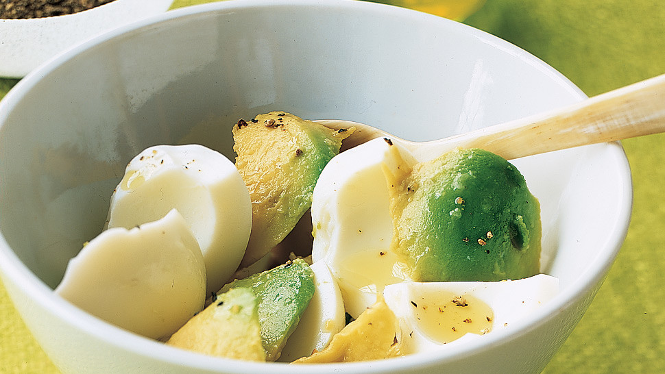 Hard Boiled Egg Whites With Avocado