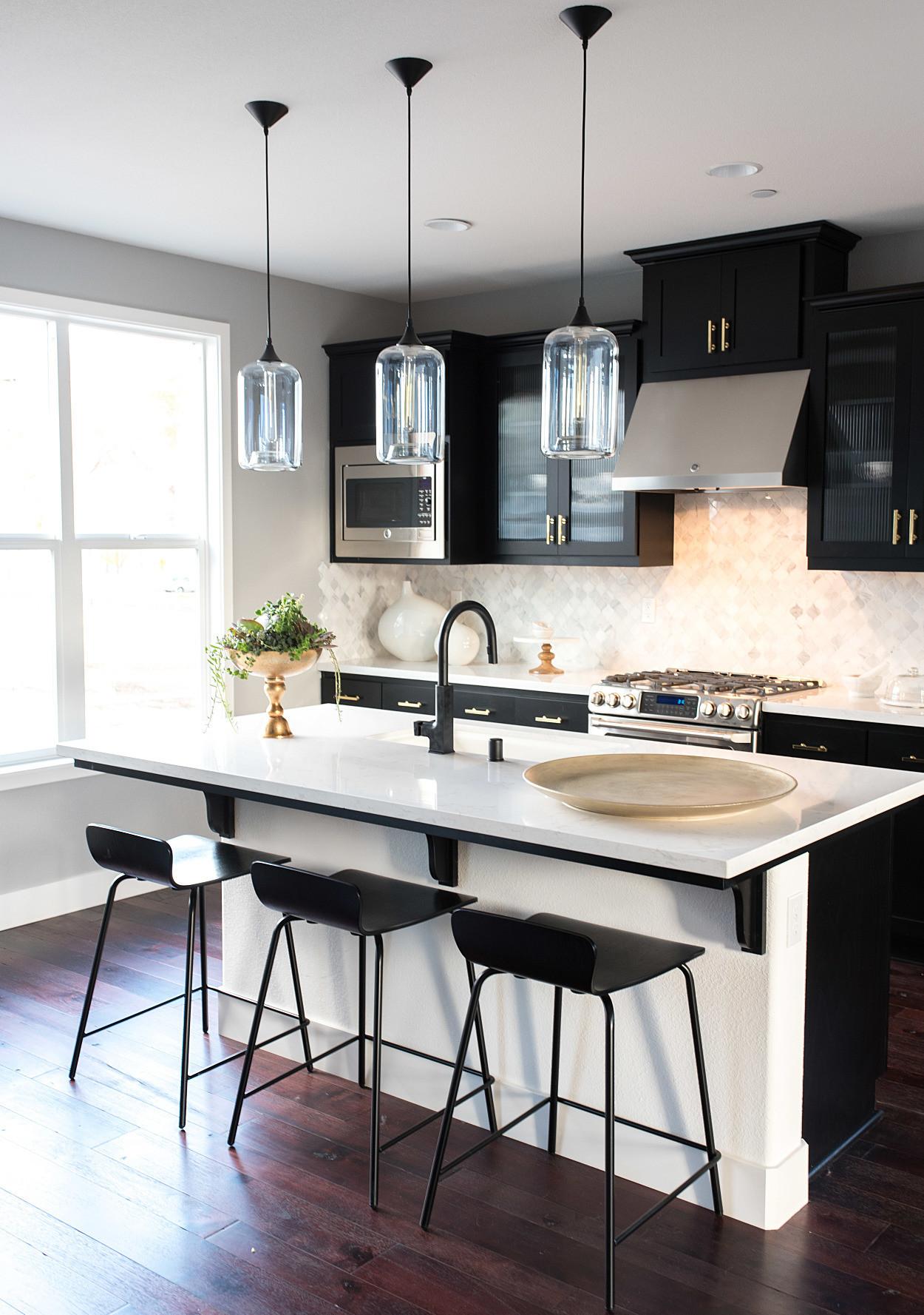 Kitchen Color Ideas. 3 Gorgeous Ways To Soften Black Kitchen Cabinets Color  Ideas E