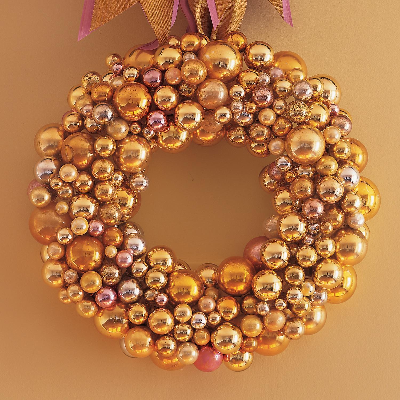 Glass Ball Wreath Martha Stewart