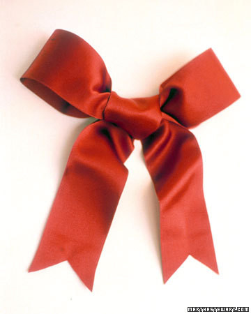 tying a wreath bow martha stewart
