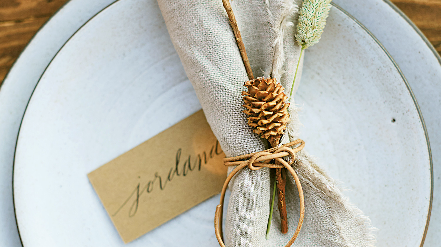 rustic organic place setting