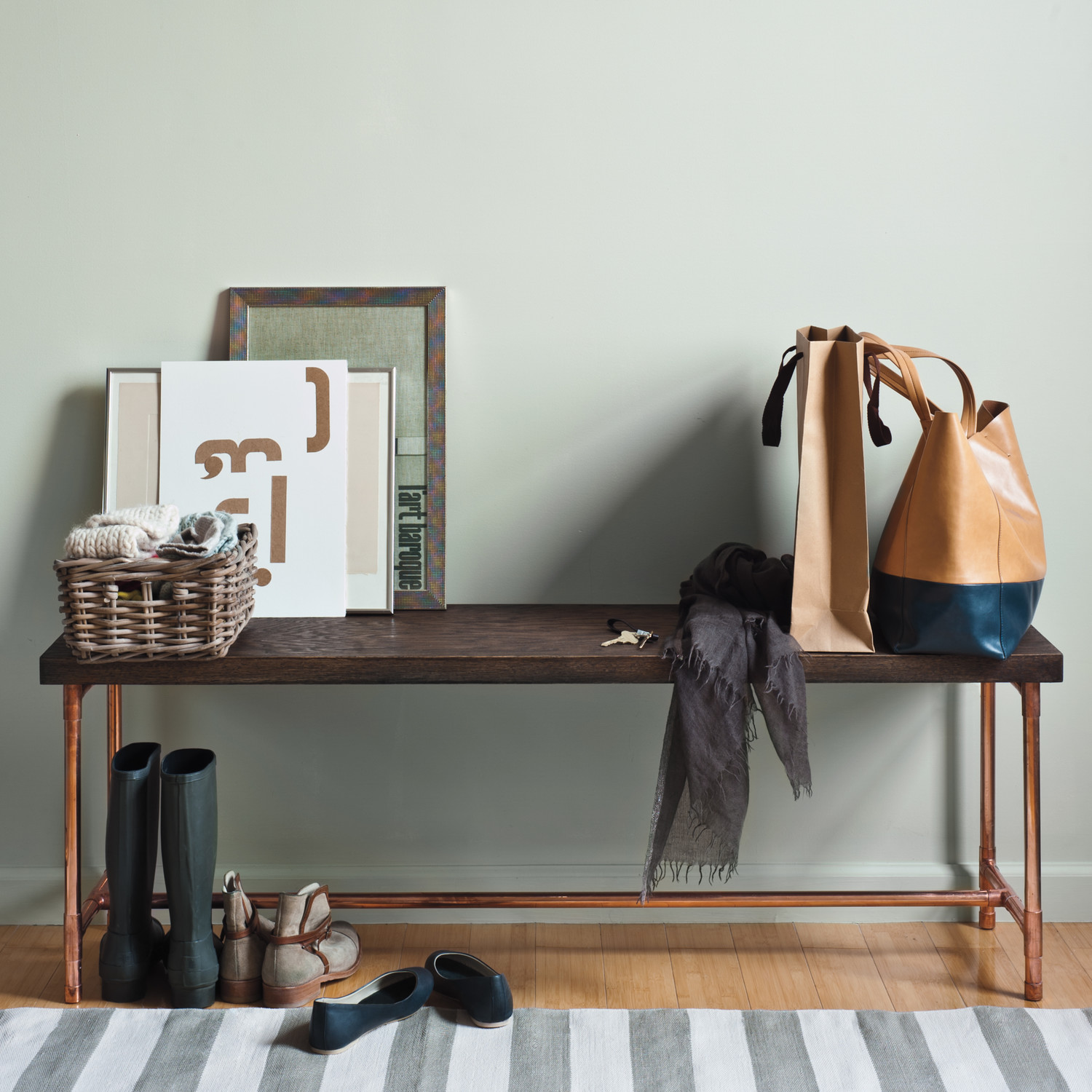 Industrial Chic Bench Recipes Crafts Home D Cor And More Martha Stewart