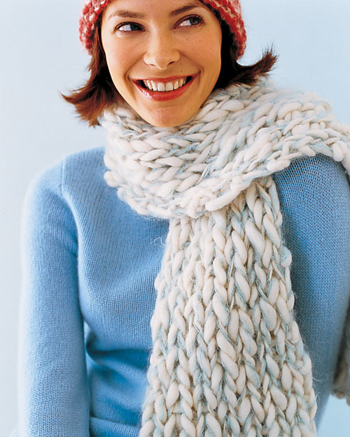 Scarf Knitting Styles : Knit hat martha stewart