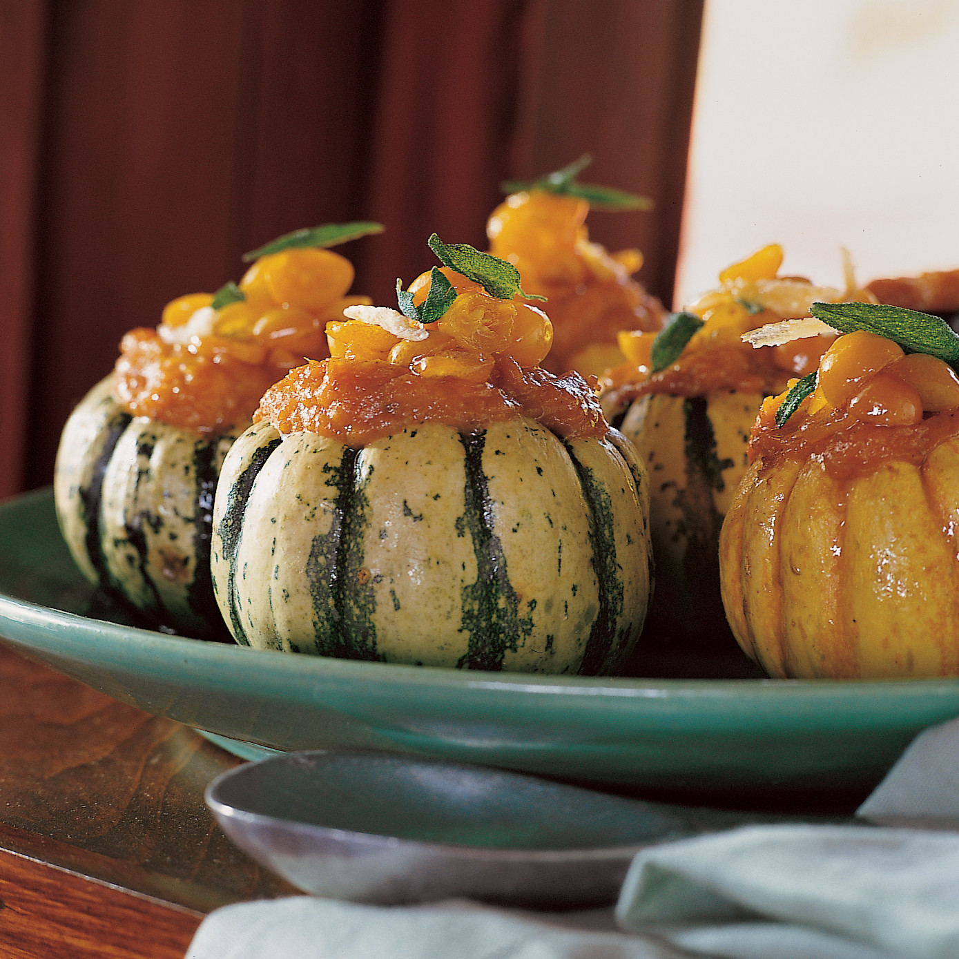 Home Decor Shop Design Ideas: Stuffed Sweet Dumpling Squash