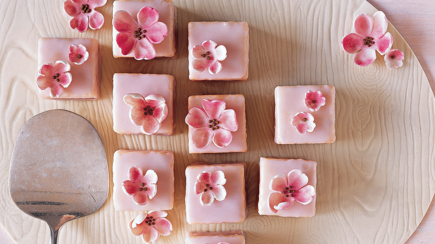 Spring Shower Almond Petits Fours Recipe Martha Stewart