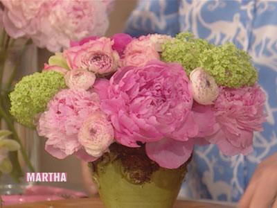 Video Flower Arrangement Martha Stewart