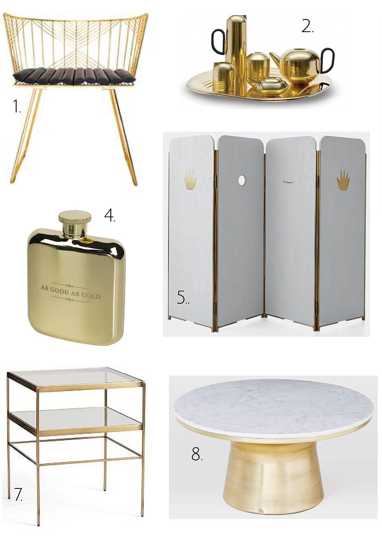 Home decorating ideas with bling turning the gold and brass trend into timeless decor martha - Timeless decor ideas not go style ...