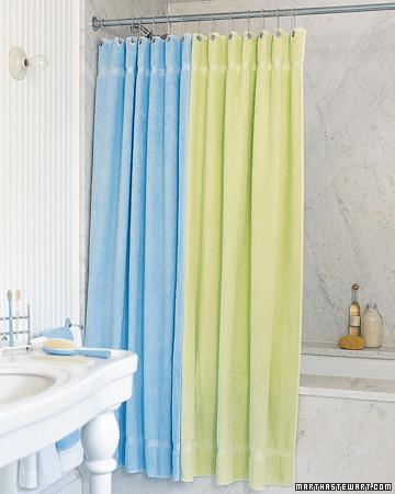Terry-Cloth Curtain   Martha Stewart