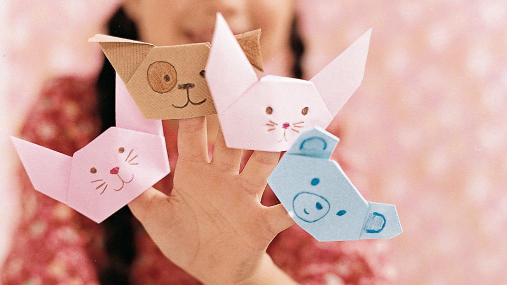 Origami Finger Puppet Martha Stewart