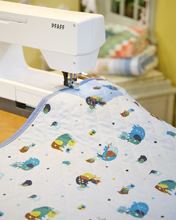 Simple Baby Quilt Video Martha Stewart Impressive How To Make A Baby Quilt With A Sewing Machine
