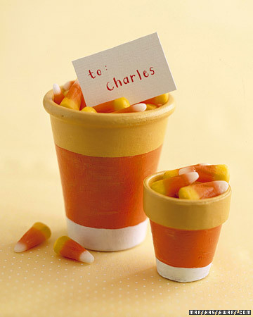 & Candy-Corn Pots | Martha Stewart