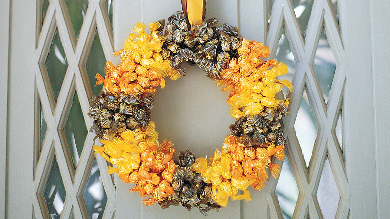 Halloween Candy Wreath Martha Stewart