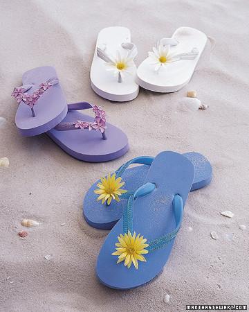 Flower Flip Flops Martha Stewart