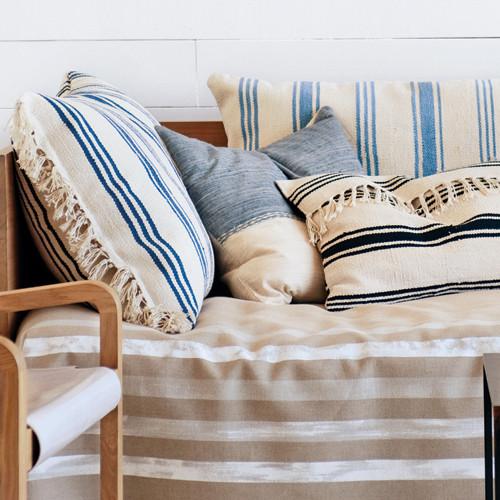 Striped Rug Pillows