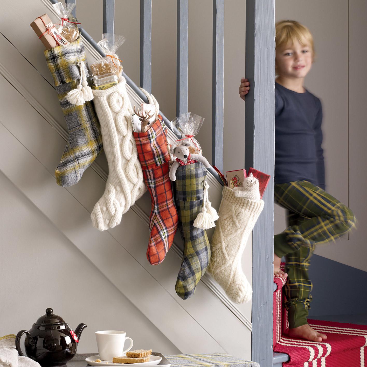 Plaid Christmas Stockings | Martha Stewart
