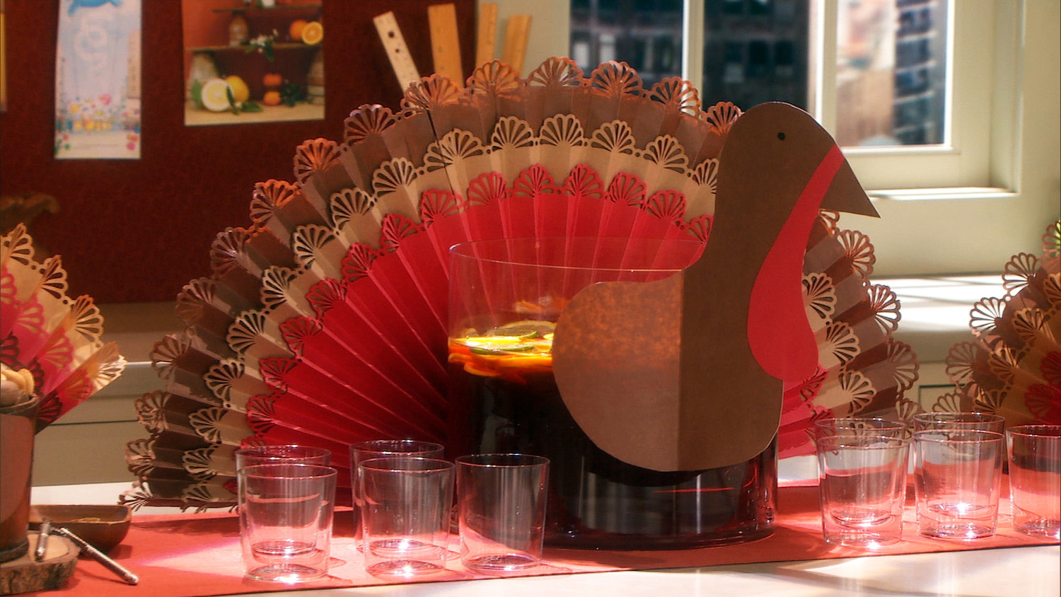 Image result for paper turkey centerpiece