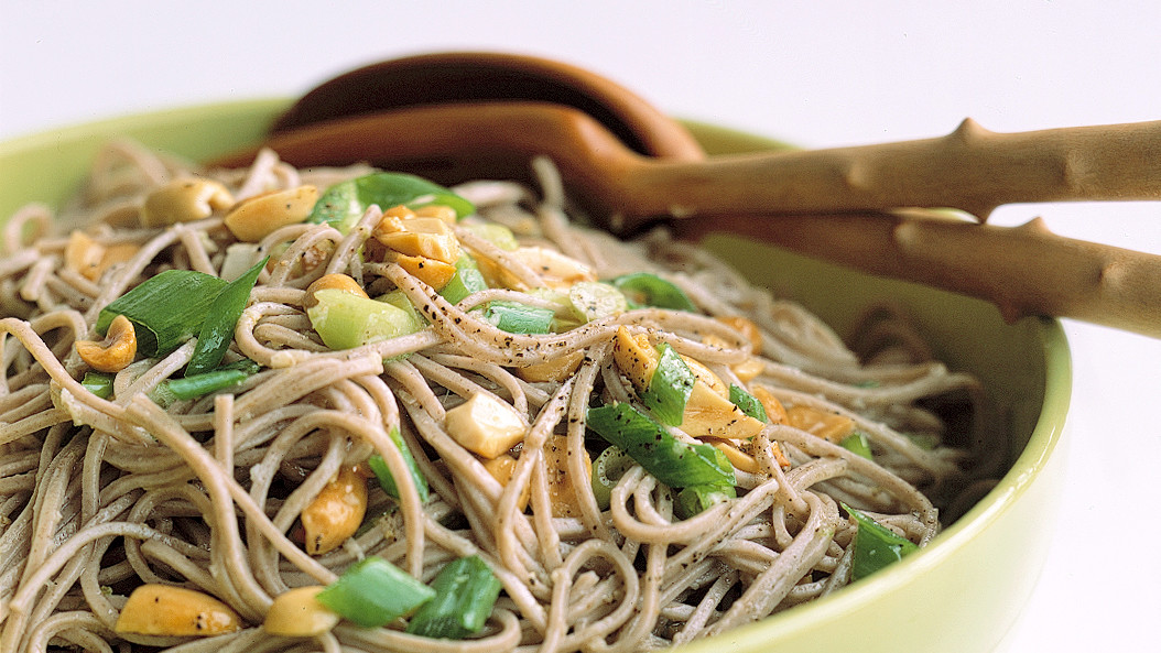Ginger Peanut Somen Noodles