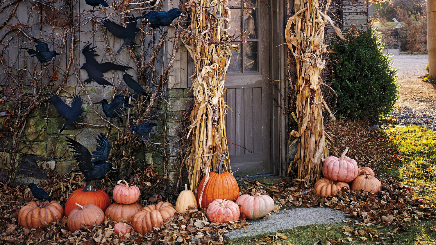 Halloween decorations made from nature s bewitched bounty martha