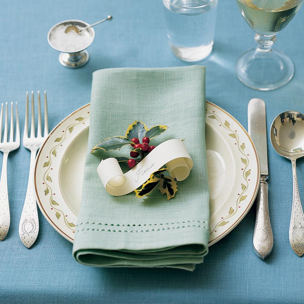 & Holiday Table Settings | Martha Stewart