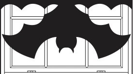 Halloween Bat Window Shades