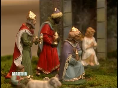 video antique nativity set martha stewart