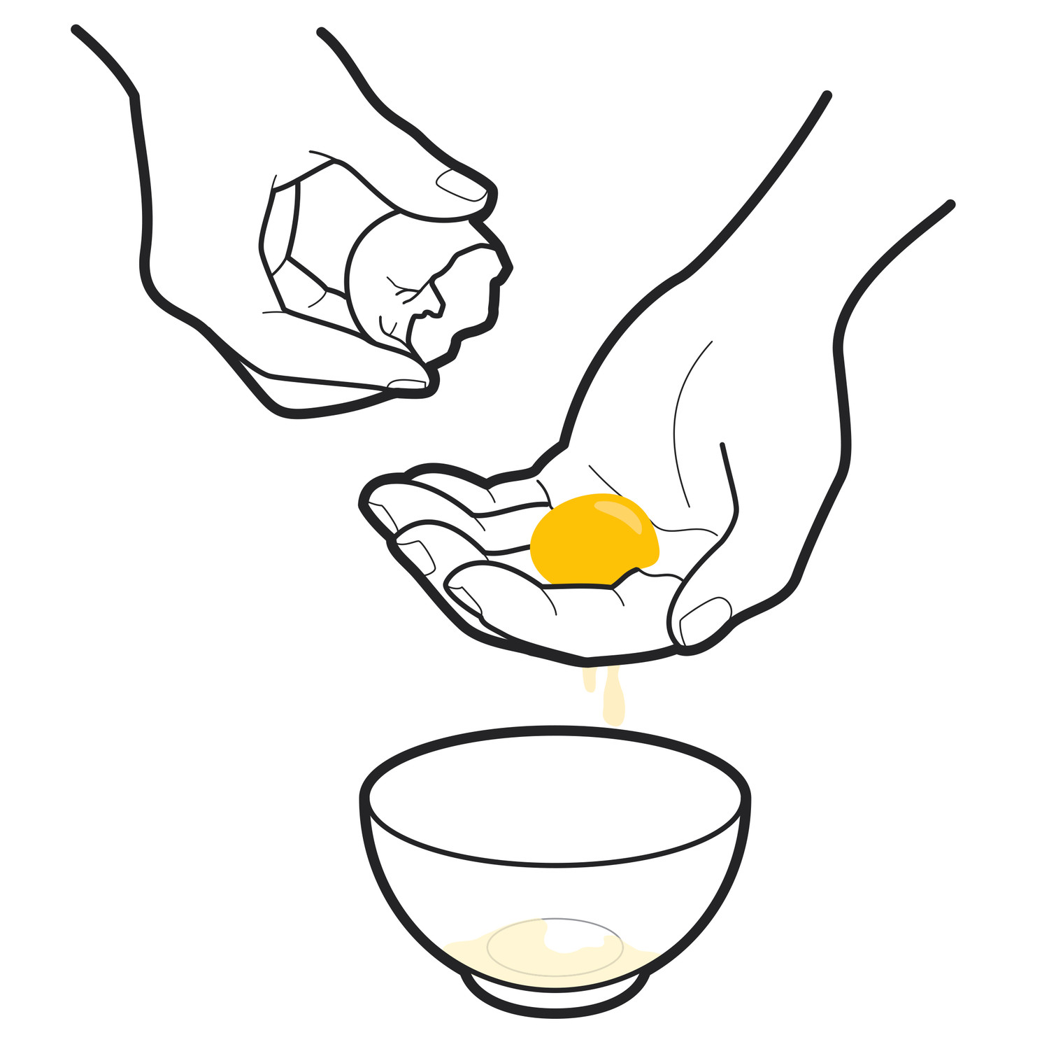 The Best Way to Separate Egg Yolks From Egg Whites | Martha Stewart for Clipart Yolk  157uhy