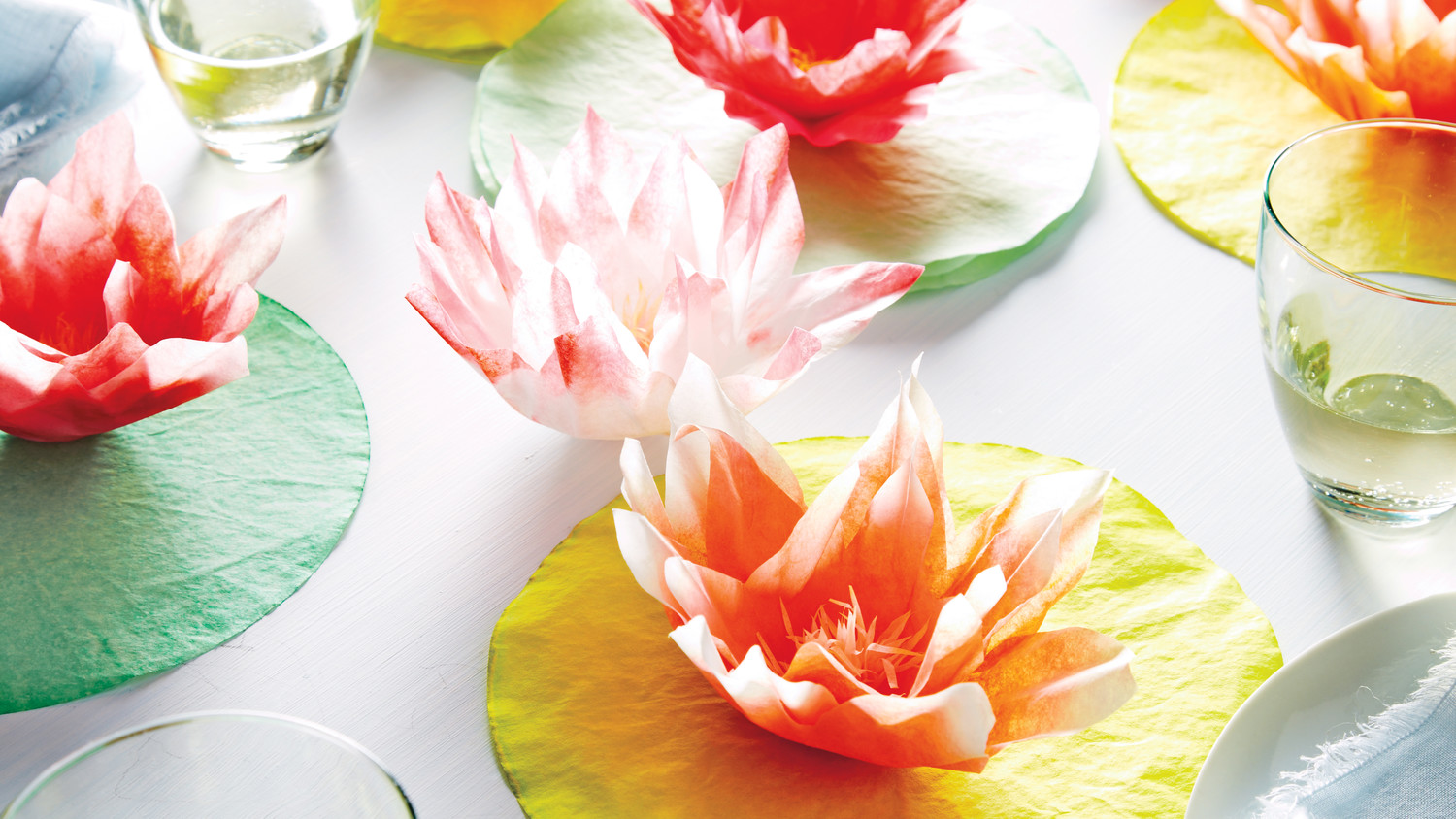 Coffee Filter Water Lily How To Martha Stewart