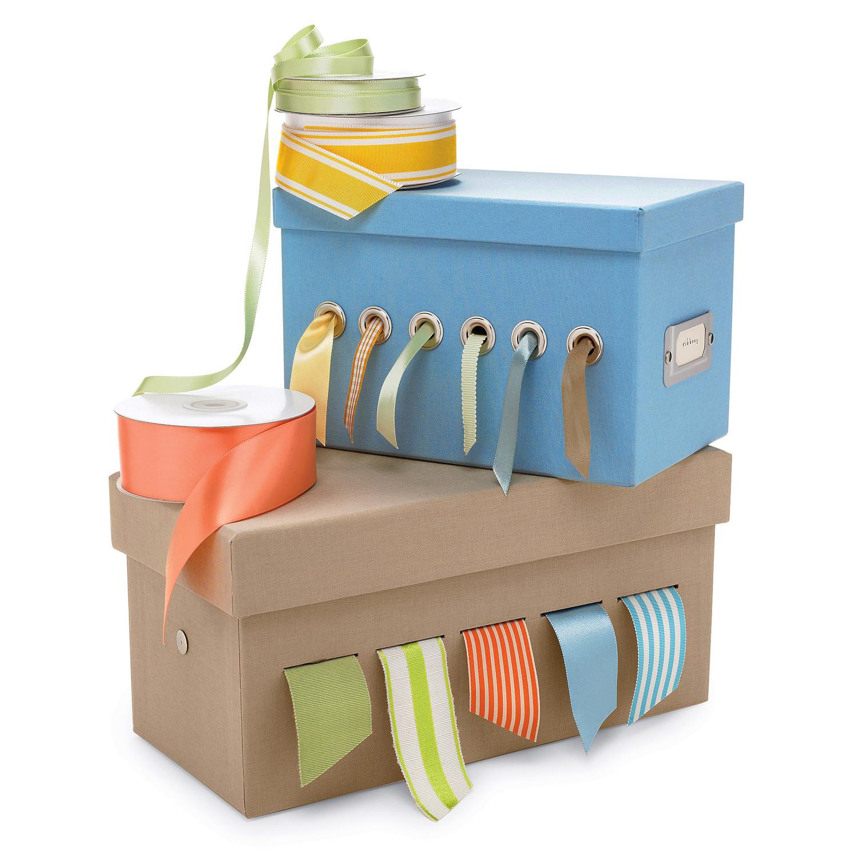 sc 1 st  Martha Stewart & Ribbon Organizer Box | Martha Stewart