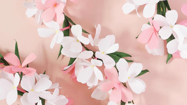 Paper flower garland martha stewart mightylinksfo