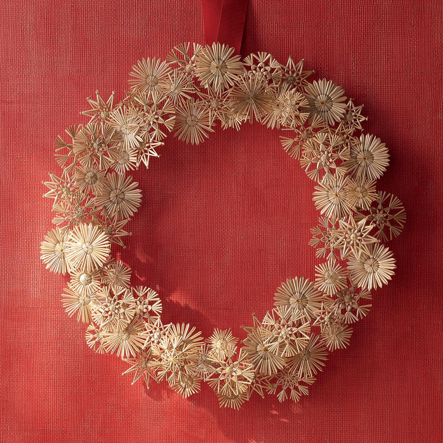 straw star wreath martha stewart