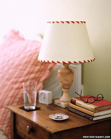 Whipstitched lampshades martha stewart