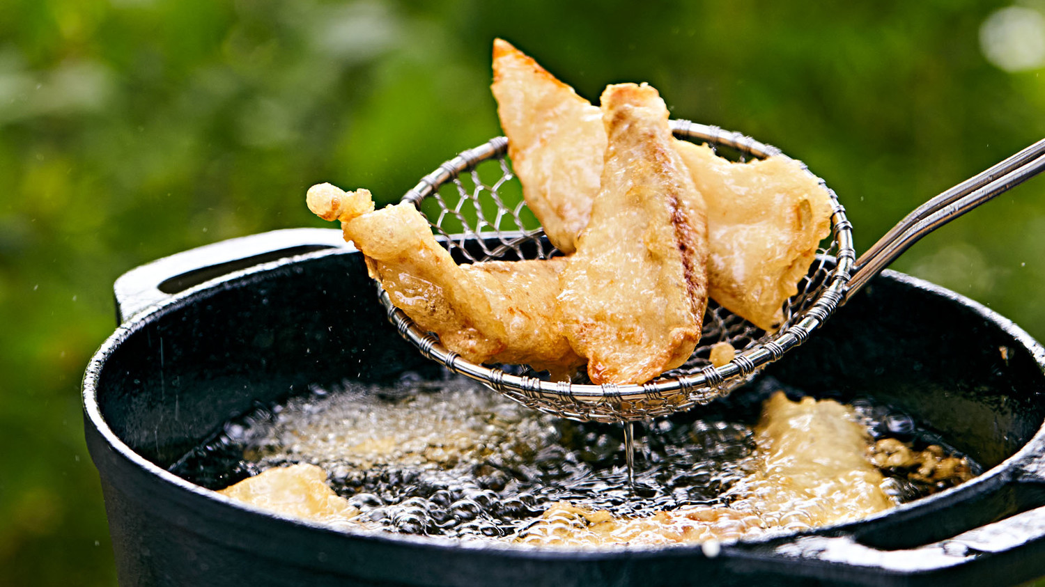 How to host a fish fry martha stewart for Best fish for frying