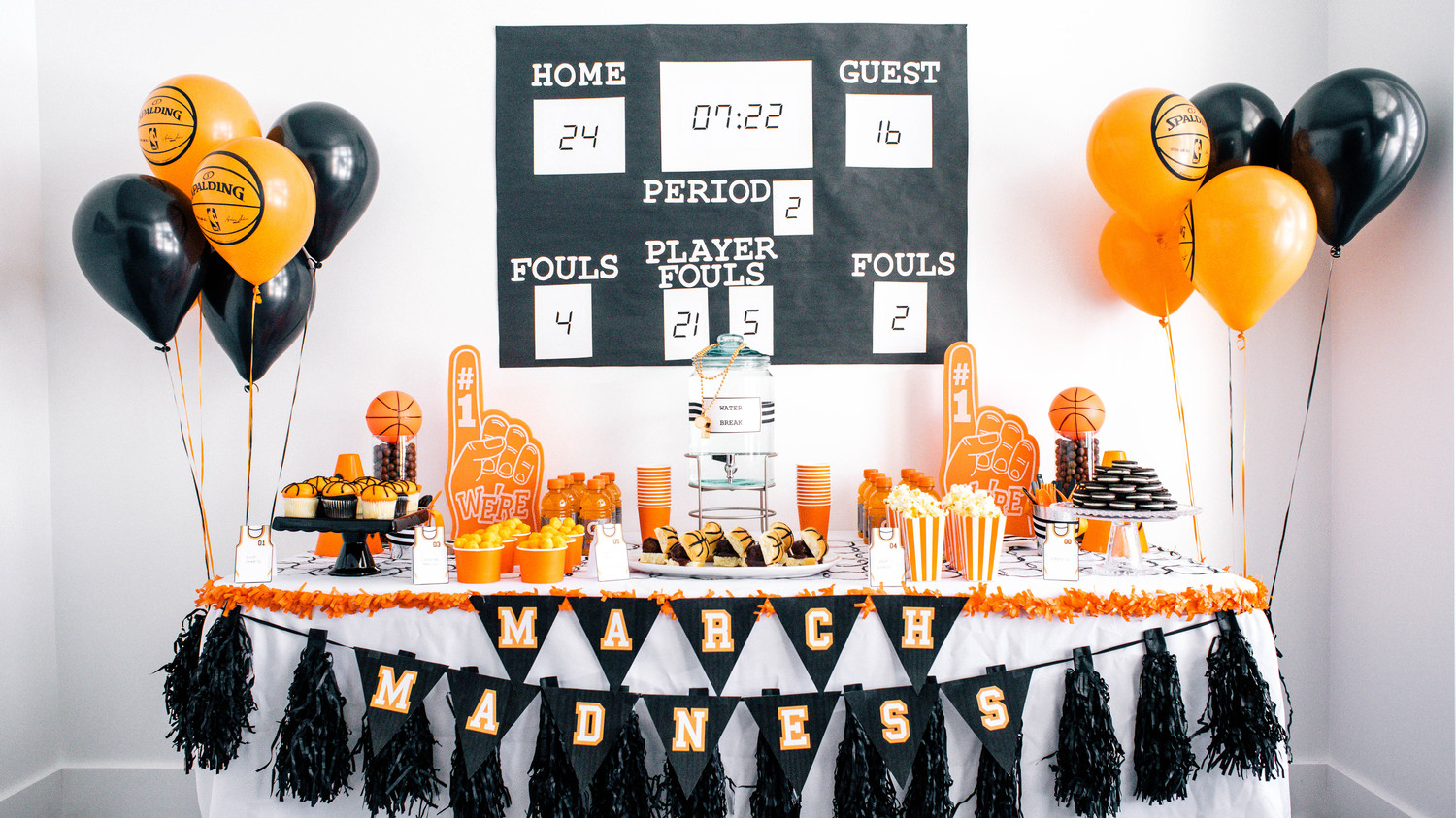 this march madness basketball party is a slam dunk martha stewart
