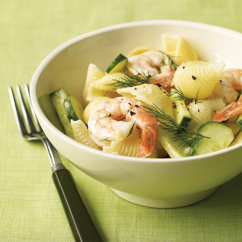 Shrimp Pasta Salad With Cucumber And Dill Recipe
