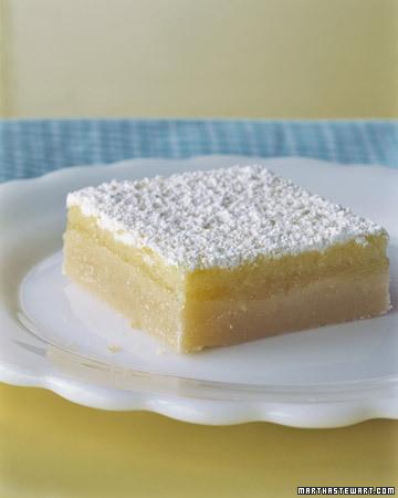 Lemon Squares Recipe Martha Stewart