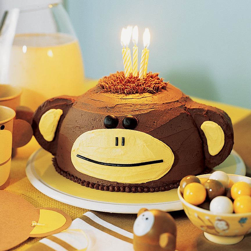 Birthday Cake Monkey Design