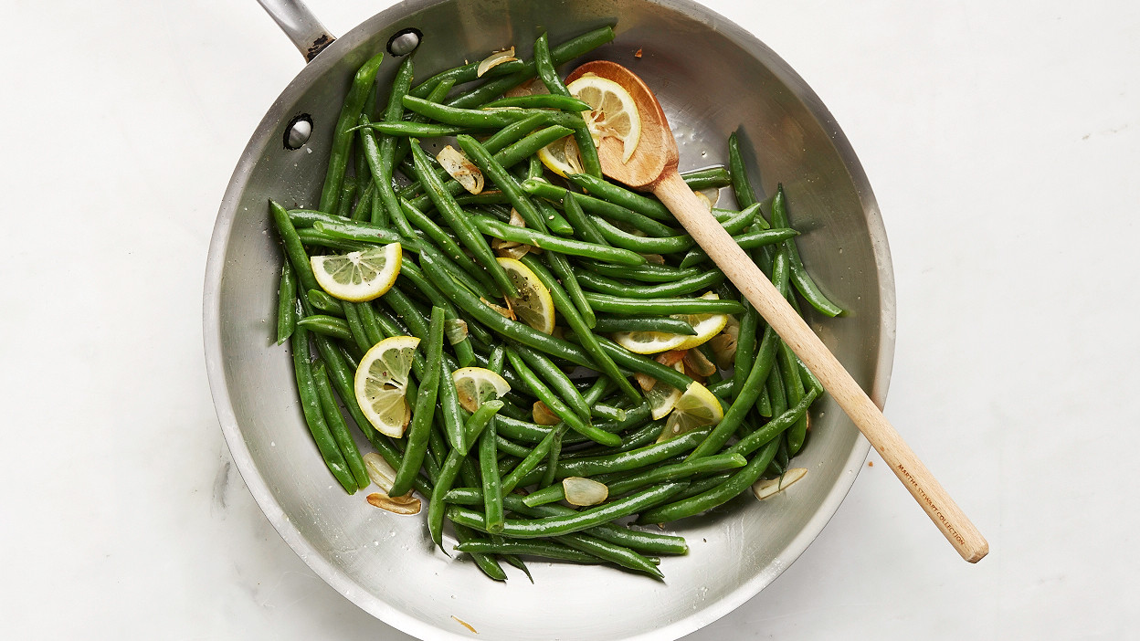 Quick Cooked Green Beans With Lemon
