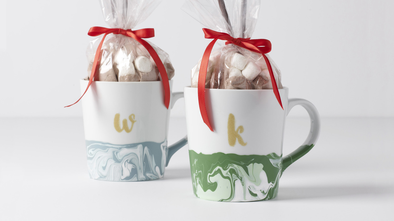 Marbleized Monogram Gift Mugs