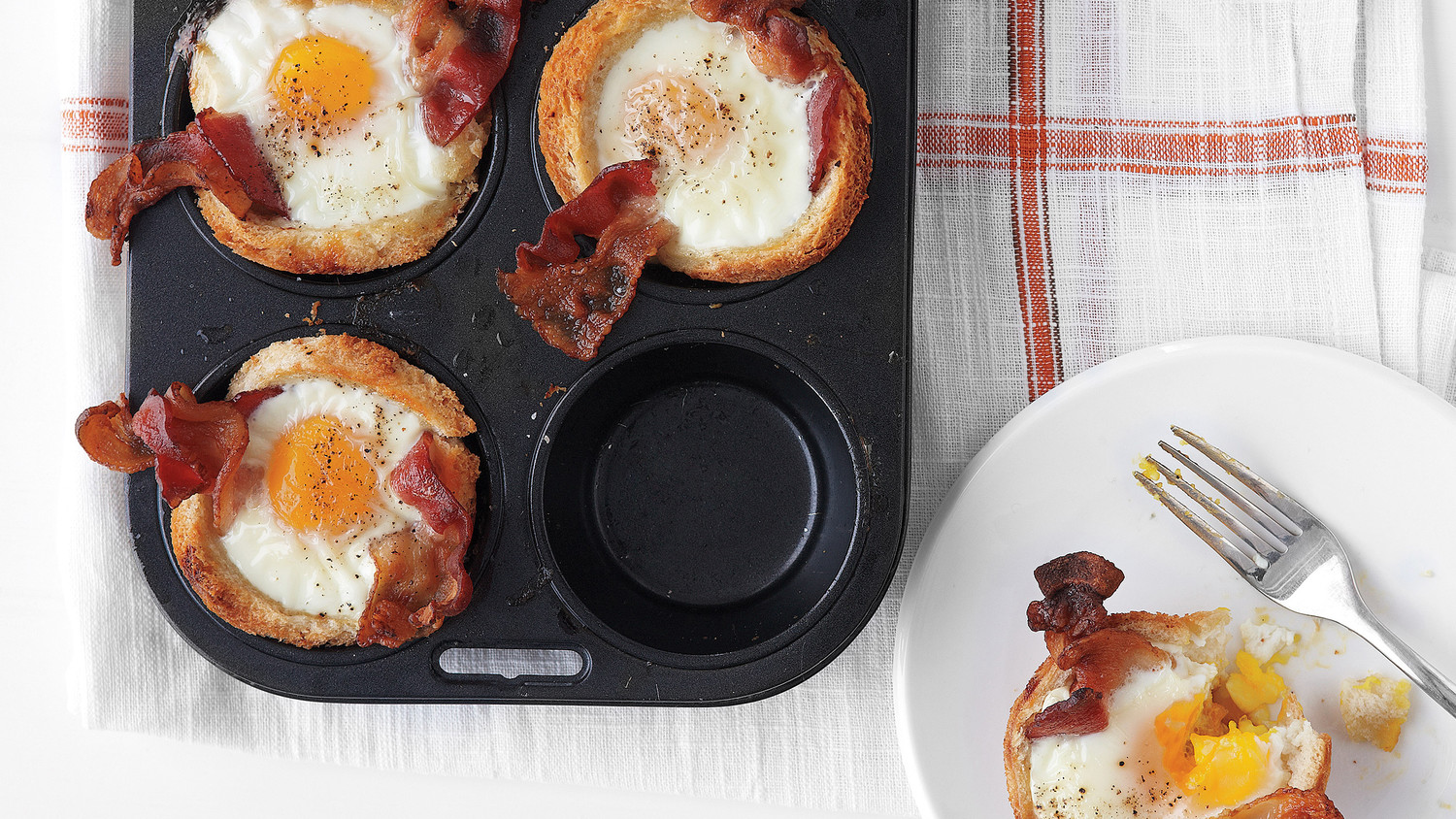 Bacon, Egg, And Toast Cups Recipe — Dishmaps