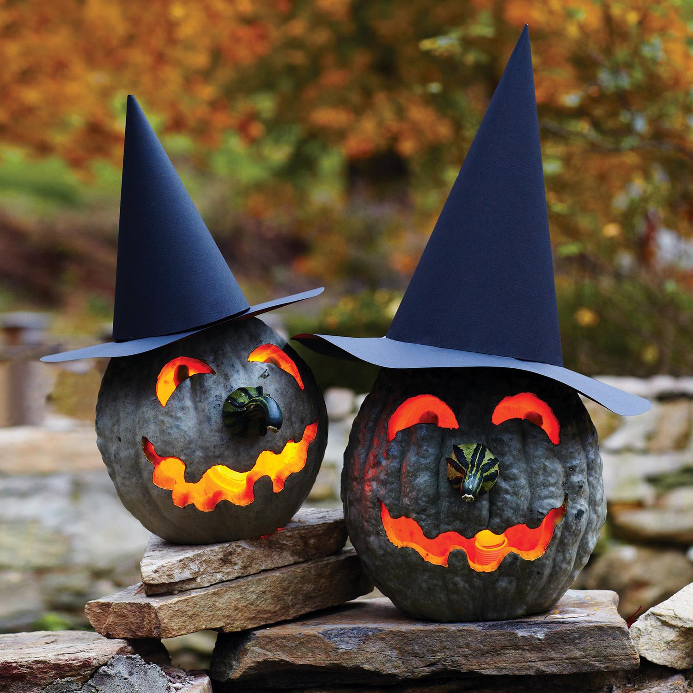 & Witch Jack-ou0027-Lanterns   Martha Stewart