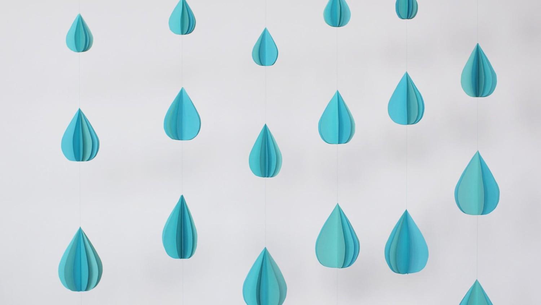 3 D Paper Raindrop Garland Amp Video Martha Stewart