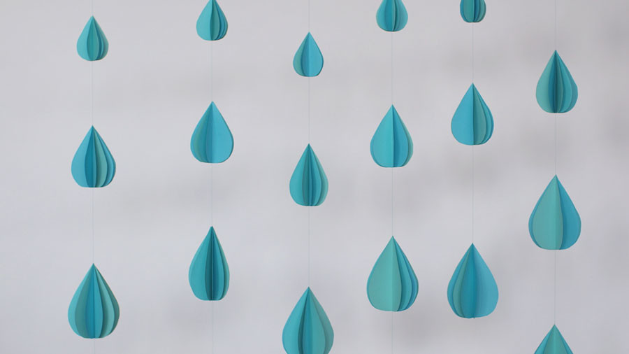 Video How To Make A Paper Raindrop Garland Martha Stewart