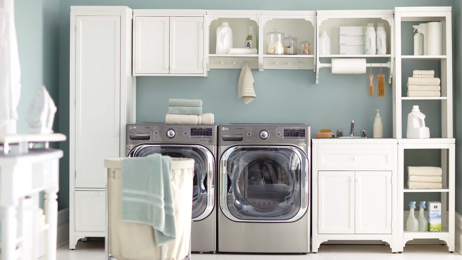 Laundry Room Cabinet Ideas 12 essential laundry-room organizing ideas | martha stewart
