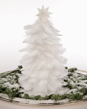 - Feather Christmas Tree & Video Martha Stewart